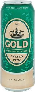 Pivo Gold, alk.4,3vol%, 0,5l