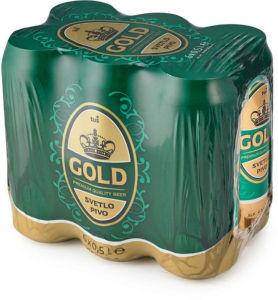 Svetlo pivo Gold, alk. 4,3 vol%, 6×0,5l