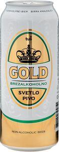 Pivo Gold, brez alkohola, 0,5l