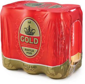 Pivo Tuš Gold, alk.5 vol%, ploč., 6×0,5l