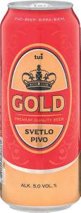 Pivo Tuš Gold, alk.5 vol%, ploč., 0,5l