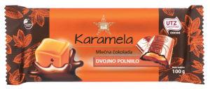 Čokolada ml.Tuš, s polnilom karamele, 100g