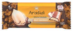 Čokolada ml.Tuš, s polnilom arašidov, 100g