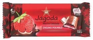 Čokolada ml.Tuš, s polnilom jagode, 100g