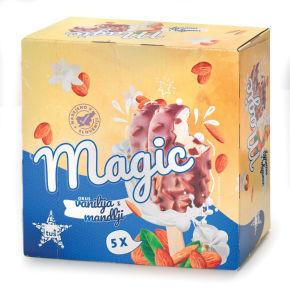 Sladoled palčka Tuš mandelj, 5 x 110 ml