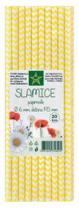 Slamice Tuš, papirnate, mix, fi6, dol.195mm, 20/1