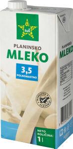 Mleko Tuš Planinsko, 3,5 % m.m., 1 l
