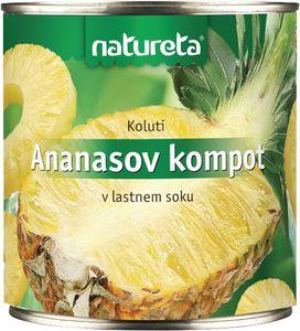 Kompot ananas, koluti, 820g