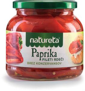 Paprika Natureta, file, rdeča, 530 g