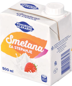 Smetana za stpanje, Pomurske mlekarne, 33% m.m., 500ml