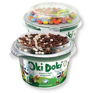 Jogurt Oki doki, dva okusa, 150g