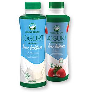 Jogurt brez laktoze, tekoči, 1,3%m.m., 500g