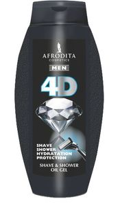 Tuš gel Afrodita, men, 4D, 250ml