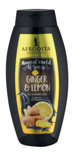 Tuš gel Afrodita, ginger&lemon, 250ml