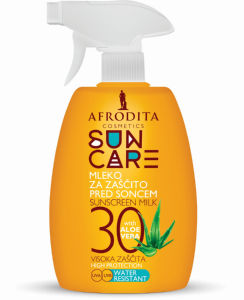 Mleko za zaščito pred soncem Afrodita, Sprej Sun care ZF 30, 200 ml
