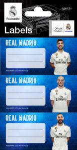 Etiketa za zvezek Real Madrid