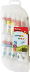 Barvice tempera Optima, 10x10ml