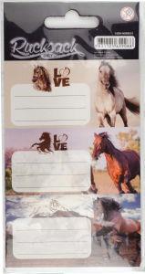 Etikete za zvezke Horses 1, 9/1