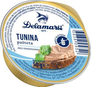 Pašteta Delamaris, tuna, 50g