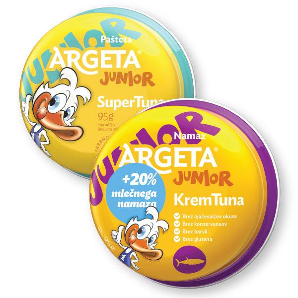 Pašteta Argeta, junior, tunina, 95g