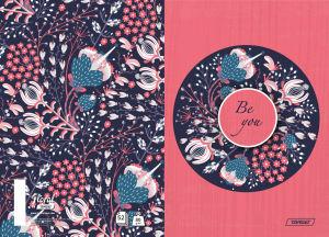 Zvezek A4 črte Target, floral, 26421