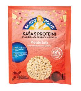 Kaša Zlato polje s proteini, bela čok., pistacija, 50g