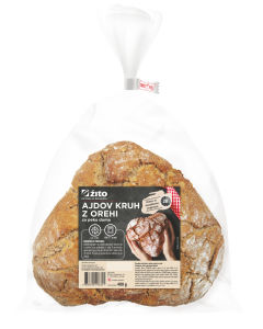 Kruh Žito, ajdov z orehi, zamrznjen, 400g