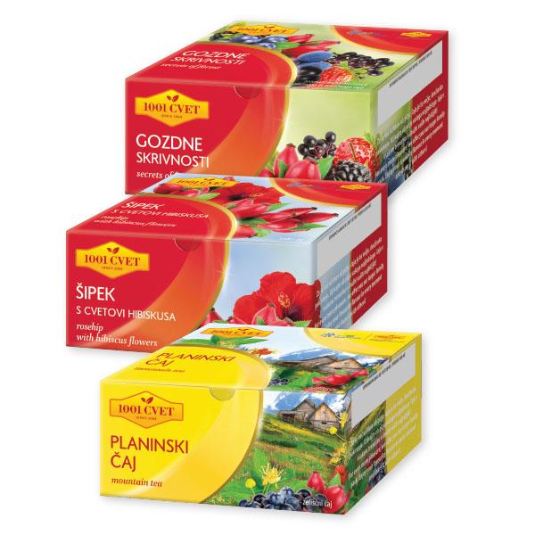 Čaji 1001 Cvet, več vrst*