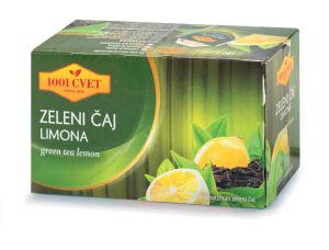 Ćaj 1001, zeleni, limona, 40g