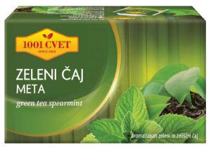 Čaj 1001, zeleni, meta, 40g