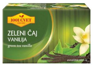 Čaj 1001, zeleni, vanilija, 40g