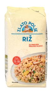 Riž Zlato polje, beli, brušen, 800 g