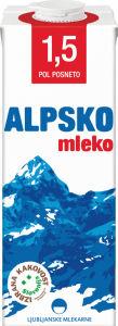 Alpsko mleko, pol posneto, 1.5 m.m., 1l
