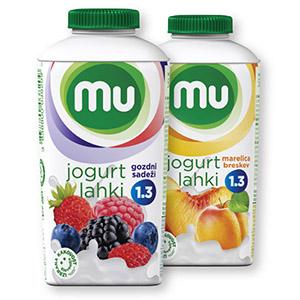 Lahki sadni jogurt MU, več okusov, 500g