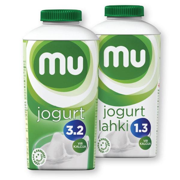 Tekoči jogurt MU, naravni, 500g; več vrst*