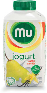 Jogurt MU, hruška, vanilija, lahki, 500g