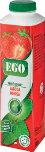 Jogurt Ego, jagoda, melisa, 500g