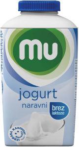 Jogurt MU, nar., br.laktoze, 1,6%m.m., 500g