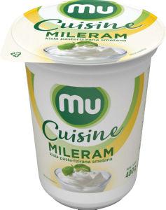 Kisla smetana Mileram Mu Cuisine,20 % m.m, 400 g