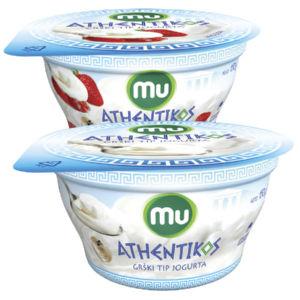 Grški tip jogurta MU Athent, 150g, več okusov