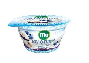 Jogurt Mu Athentikos, borovnica, 150g