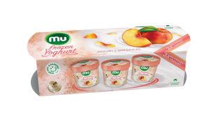 Sladoled Mu, Frozen, jogurt, breskev, 3x140ml