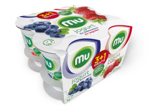 Jogurt Mu sadni, 3 + 1 gratis, 4 x 160 g