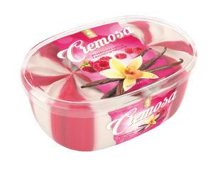 Sladoled Cremosa , borbonska vanilija z malino, 900ml