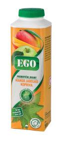 Jogurt Ego tekoči, mango, jabolk.,kopriva, 1,3%mm, 500g