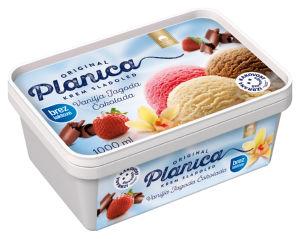 Sladoled Planica, brez laktoze, 1 l