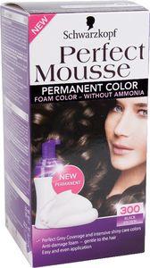 Barva za lase Perfect musse, 300, črno rjava