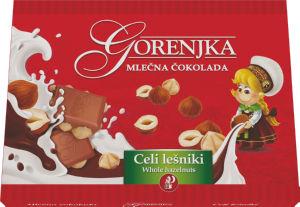 Čokolada mlečna Gorenjka, lešnikova, 450g