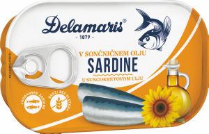 Sardine Delamaris, v sončničnem olju, 90g