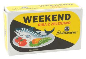Riba Weekend, z zelenjavo, Retro, 125 g